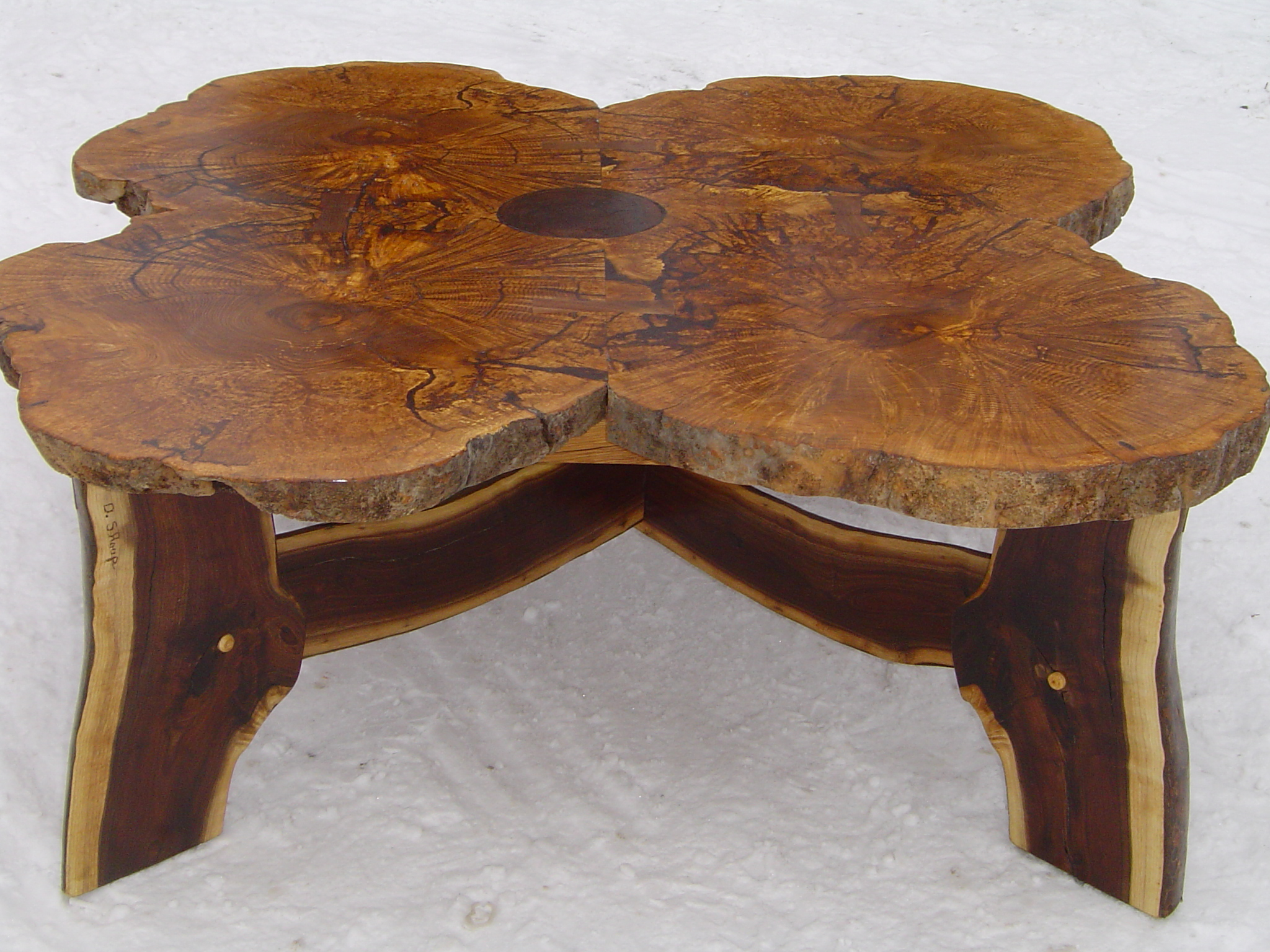 Rustic Ash Burl Table Duane Shoup Woodcraftsman