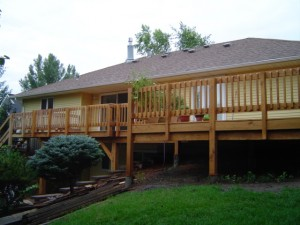 white oak deck