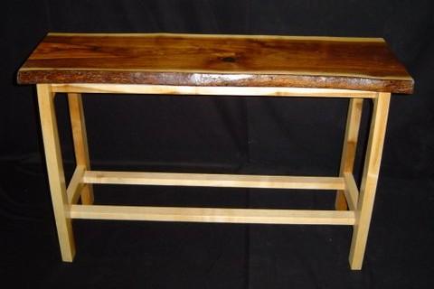 Walnut & Maple Entry Table