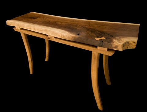 Sofa Entry Tables Duane Shoup Woodcraftsman Wildwood Rustic